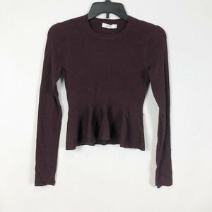 A. L. C. Alex Wool Blend Peplum Sweater